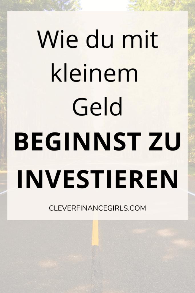 Wie du mit kleinem Geld beginnst zu investieren