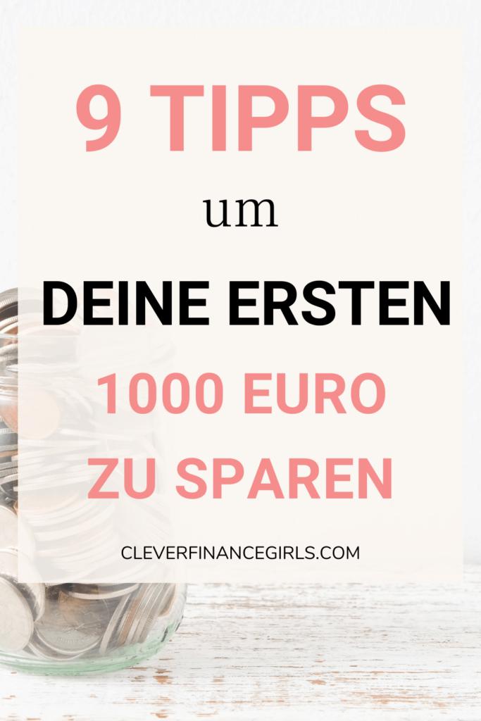 1000 Euro sparen mit diesen 9 Tipps